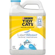 Tidy Cats LightWeight Glade Tough Odor Solutions Clear Springs Scent Clumping Cat Litter, 8.5-lb jug