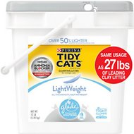 Tidy Cats LightWeight Glade Tough Odor Solutions Clear Springs Scent Clumping Cat Litter, 12-lb pail