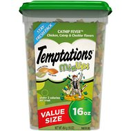 Temptations Mixups Catnip Fever Cat Treats, 16-oz tub