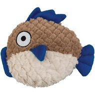 Ethical Pet Soft Swirl Plush Fish Dog Toy, 9.5-inch (Colors Vary)
