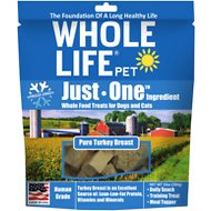 Whole Life Just One Ingredient Pure Turkey Brest Freeze-Dried Dog & Cat Treats, 10-oz bag
