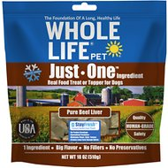 Whole Life Just One Ingredient Pure Beef Liver Freeze-Dried Dog & Cat Treats, 18-oz bag
