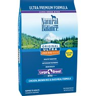 Natural Balance Original Ultra Whole Body Health Chicken, Brown Rice, Duck Meal Formula Large Breed Dry Dog Food, 30-lb bag