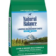 Natural Balance L.I.D. Limited Ingredient Diets Puppy Formula Lamb & Brown Rice Formula Dry Dog Food, 12-lb bag