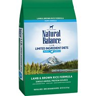 Natural Balance L.I.D. Limited Ingredient Diets Puppy Formula Lamb & Brown Rice Formula Dry Dog Food, 24-lb bag
