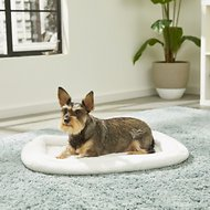 MidWest Quiet Time Deluxe Double Bolster Pet Bed, Fleece, 24-in