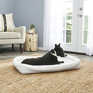 MidWest Quiet Time Deluxe Double Bolster Pet Bed, Fleece, 36-in