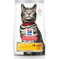Hill's Science Diet Adult Urinary Hairball Control Dry Cat Food, 15.5-lb bag