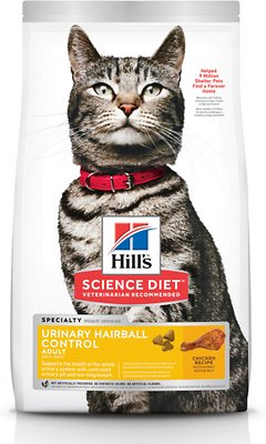 3. Hill's Science Diet Urinary and Hairball Control Dry Food for Adult Cats