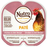 Nutro Perfect Portions Grain-Free Chicken & Liver Recipe Cat Food Trays, 2.6-oz, case of 24