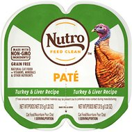 Nutro Perfect Portions Grain-Free Turkey & Liver Paté Recipe Cat Food Trays, 2.6-oz, case of 24