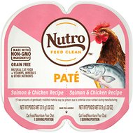 Nutro Perfect Portions Grain-Free Salmon & Chicken Paté Recipe Cat Food Trays, 2.6-oz, case of 24