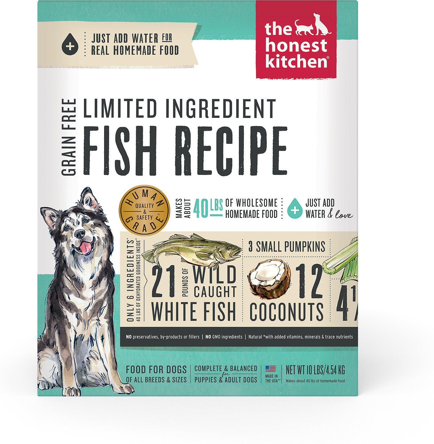 The Honest Kitchen Limited Ingredient Diet Fish Recipe Grain-Free ...