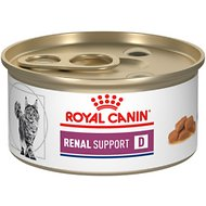 Royal Canin Veterinary Diet Renal Support D Morsels in Gravy Canned Cat Food, 3-oz, case of 24