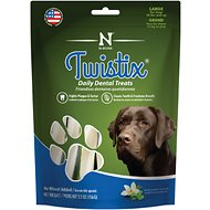 N-Bone Twistix Vanilla Mint Dog Treats, Large