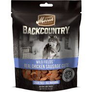 Merrick Backcountry Wild Fields Real Chicken Sausage Cuts Dog Treats, 5-oz bag
