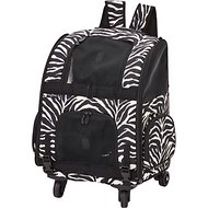 Gen7Pets Roller Carrier with Smart-Level Pet Carrier, Zebra, Up to 10 lbs