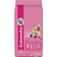 Eukanuba Adult Weight Control Chicken Formula Dry Dog Food, 30-lb bag