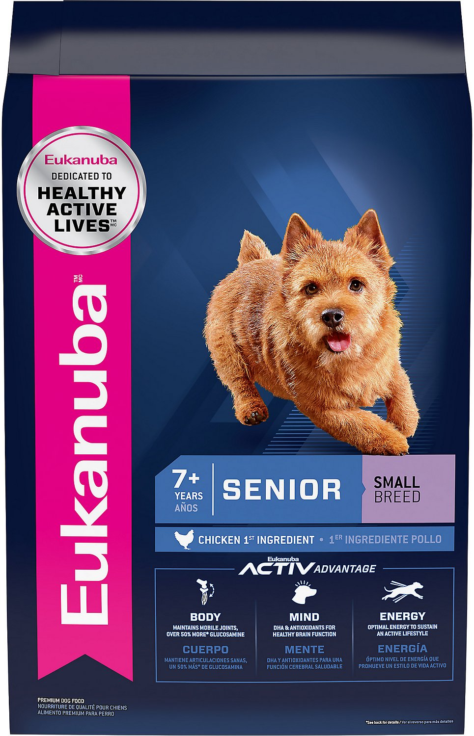 Eukanuba Small Breed Senior Dry Dog Food 15 Lb Bag Chewycom