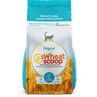 sWheat Scoop Natural Fast-Clumping Wheat Cat Litter, 25-lb bag
