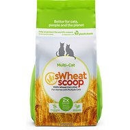 sWheat Scoop Multi-Cat Natural Wheat Cat Litter, 25-lb bag