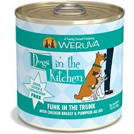 Weruva Dogs in the Kitchen Funk in the Trunk with Chicken Breast & Pumpkin Au Jus Grain-Free Canned Dog Food, 10-oz can, case of 12