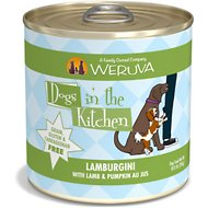 Weruva Dogs in the Kitchen Lamburgini with Lamb & Pumpkin Au Jus Grain-Free Canned Dog Food, 10-oz can, case of 12