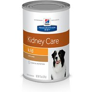 Hill's Prescription Diet k/d Kidney Care with Lamb Canned Dog Food, 13-oz, case of 12