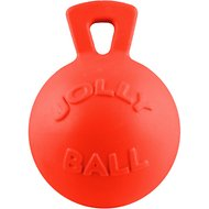 Jolly Pets Tug-n-Toss Dog Toy, Orange, 8-in