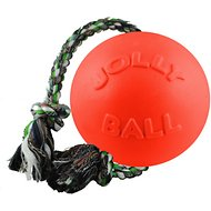 Jolly Pets Romp-n-Roll Dog Toy, Orange, 4.5-in
