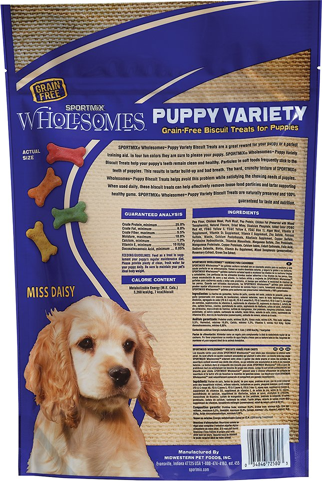 Sportmix Wholesomes Puppy Variety Grain Free Biscuit Dog Treats 2