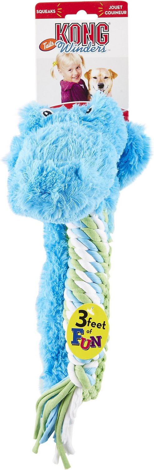 KONG Winders Tails Dog Toy Alligator Chewy
