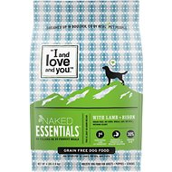 I and Love and You Naked Essentials Lamb & Bison Recipe Grain-Free Dry Dog Food, 4-lb bag
