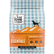 I and Love and You Naked Essentials Chicken & Duck Recipe Grain-Free Dry Dog Food, 4-lb bag