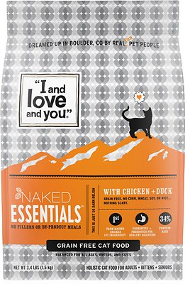 3. I and Love and You Naked Essentials Chicken & Duck Recipe Dry Cat Food