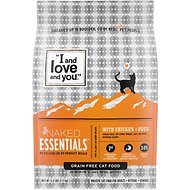 I and Love and You Naked Essentials Chicken & Duck Recipe Grain-Free Dry Cat Food, 3.4-lb bag