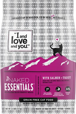 9. I and Love and You Naked Essentials Salmon & Trout Dry Cat Food