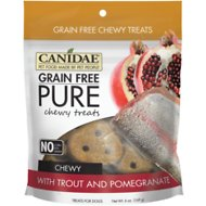 CANIDAE Grain-Free PURE Trout & Pomegranate Chewy Dog Treats, 6-oz bag