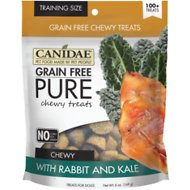 CANIDAE Grain-Free PURE Rabbit & Kale Chewy Dog Treats, 6-oz bag