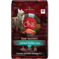 Purina ONE SmartBlend True Instinct with Real Salmon & Tuna Adult Dry Dog Food, 15-lb bag