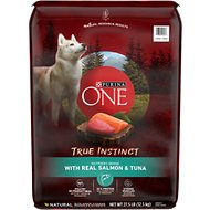 Purina ONE SmartBlend True Instinct with Real Salmon & Tuna Adult Premium Dry Dog Food, 27.5-lb bag