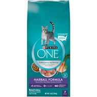 Purina ONE Hairball Adult Formula Dry Cat Food, 7-lb bag