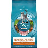 Purina ONE Healthy Metabolism Adult Dry Cat Food, 7-lb bag
