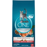 Purina ONE Tender Selects Blend with Real Salmon Dry Cat Food, 7-lb bag
