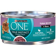 Purina ONE SmartBlend True Instinct Tuna in Sauce Canned Cat Food, 3-oz, case of 24