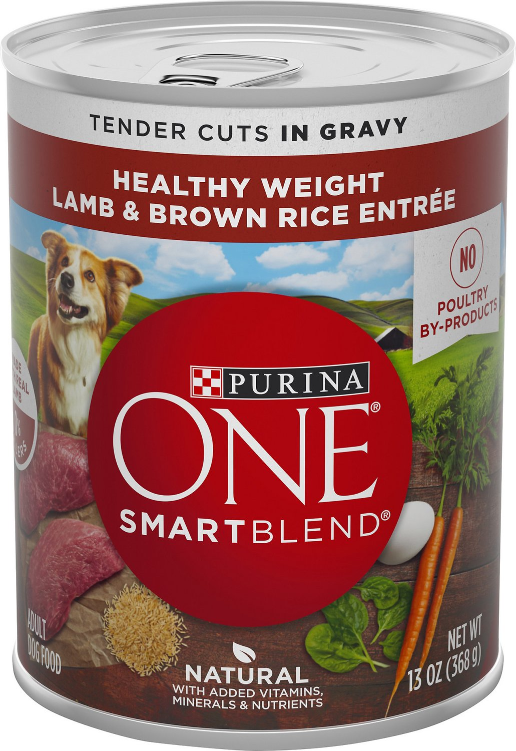 Purina One Smartblend Tender Cuts In Gravy Lamb Brown Rice Entree