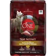 Purina ONE SmartBlend True Instinct with Real Turkey & Venison Adult Dry Dog Food, 15-lb bag