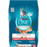 Purina ONE Tender Selects Blend with Real Salmon Dry Cat Food, 16-lb bag