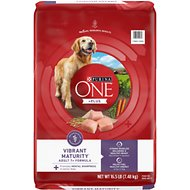 Purina ONE SmartBlend Vibrant Maturity 7+ Adult Formula Dry Dog Food, 16.5-lb bag