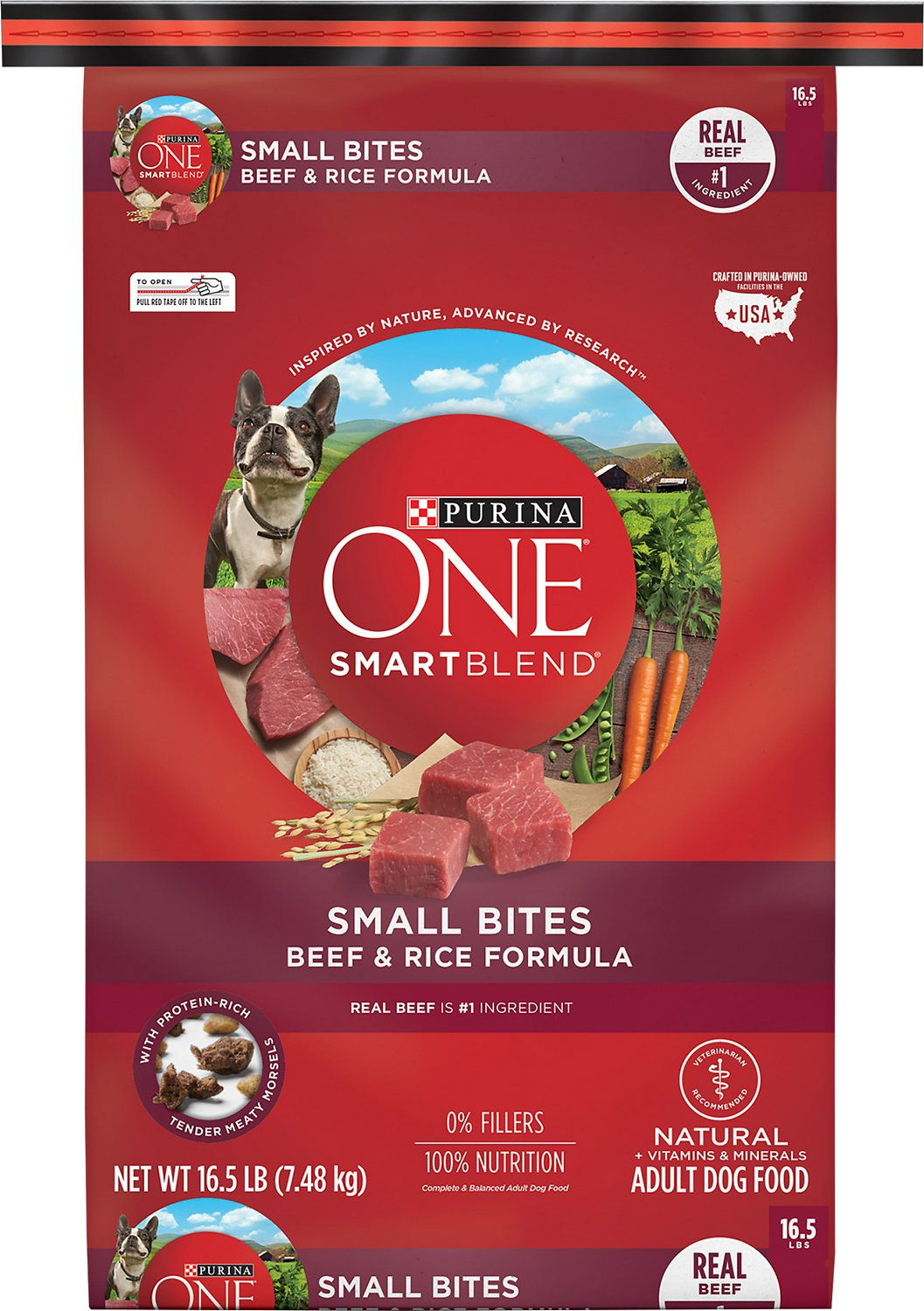 Purina One Smartblend Small Bites Beef And Rice Dry Dog Food 16 5 Lb Bag